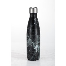 Mπουκάλι θερμός printed 500ml ανοξείδωτο μαύρο