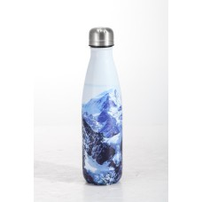 Mπουκάλι θερμός printed 500ml ανοξείδωτο λευκό