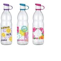 Μπουκάλι γυάλινο στρογγυλό  με σχέδιο 151502