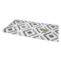 Πατάκι μπάνιου βαμβακερό  40x60 cm σχέδιο ρόμβος λευκό - μαύρο Νο31451